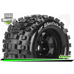LR-T3322BH Louise RC - MFT - MT-UPHILL - Set de pneus Monster Truck 1-8 - Monter - Sport - Jantes type Bead 3.8 Noir