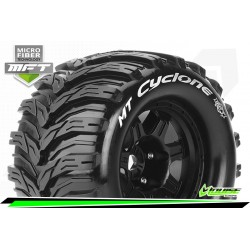LR-T3323B Louise RC - MFT - MT-CYCLONE - Set de pneus Monster Truck 1-8 - Monter - Sport - Jantes type Bead 3.8 Noir