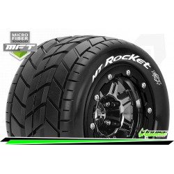 LR-T3328SBC Louise RC - MFT - MT-ROCKET - Set de pneus Maxx - Monter - Sport - Jantes 2.8 Bead-Lock Chrome-Noir