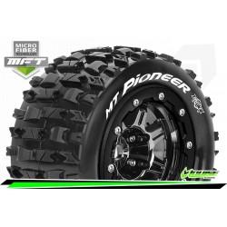 LR-T3329SBC Louise RC - MFT - MT-PIONEER - Set de pneus Maxx - Monter - Sport - Jantes 2.8 Bead-Lock Chrome-Noir