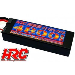 HRC02348E Accu - LiPo 3S - 11.1V 4800mAh 70C - RC Car - Hard Case - Prise EC5 138x46x25mm