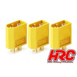 HRC9094A Connecteur - Gold - XT60 - mâle (3 pces)