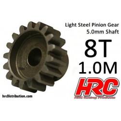 HRC71008 Pignon - 1.0M / axe 5mm - Acier - Léger - 8D