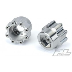 "PL6357-00 Wheel Adapters - 8x32 to 20mm Aluminum Hex Adapters for Pro-Line 8x32 3.8"" Wheels"