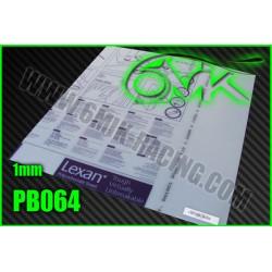 PB108 Plaque de lexan 0,8mm - 74x54 cm