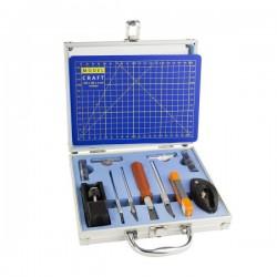 PKN1050/CM Ensemble de couteaux et d'outils 50pc + tapis de coupe