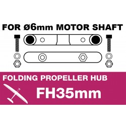 AP-FH2-6 APC - Folding Electric Propeller Blades Adapter Hub - 35MMFH (for 6mm motor shaft)