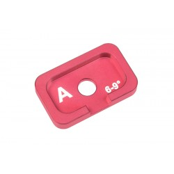 C-00120-036 Team Corally - Alum. Caster Adjustment Plate FSX10 - A - 6° - 9° - 1 pc