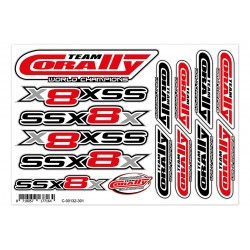C-00132-301 Team Corally - Decal sheet SSX-8X