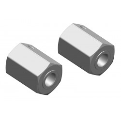 C-00250-035 Team Corally - Hexagone de roue - Avant - Aluminium - 2 pcs
