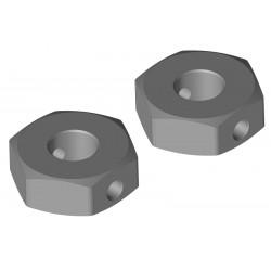 C-00250-078 Team Corally - Hexagone de roue - Arrière - Aluminium - 2 pcs