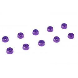 C-31252 Team Corally - Rondelles aluminium - pour vis M2 à tête cylindrique - Ø 6mm - Violet - 10 pcs