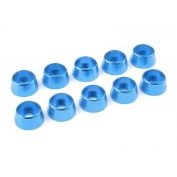 C-31294 Team Corally - Rondelles aluminium - pour vis M5 à tête cylindrique - Ø 12mm - Bleu - 10 pcs