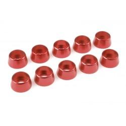 C-31295 Team Corally - Rondelles aluminium - pour vis M5 à tête cylindrique - Ø 12mm - Rouge - 10 pcs