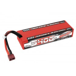 C-49442 Team Corally - Sport Racing 50C LiPo Battery - 5400mAh - 7.4V - Stick 2S - Hard Wire - T-Plug