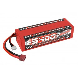 C-49445 Team Corally - Sport Racing 50C LiPo Battery - 5400mAh - 11.1V - Stick 3S - Hard Wire - T-Plug