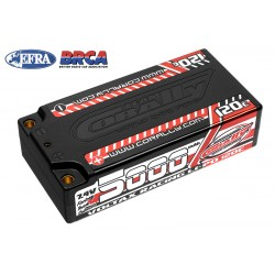 C-49505 Team Corally - Voltax 120C LiPo Battery - 5000mAh - 7.4V - Shorty 2S - 4mm Bullit
