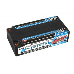 C-49705 Team Corally - X-Celerated 100C LiPo Battery - 5000 mAh - 7.4V - Stick 2S - 4mm Bullit