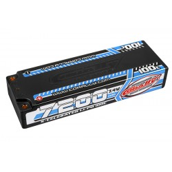 C-49720 Team Corally - X-Celerated 100C LiPo Battery - 7200 mAh - 7.4V - Stick 2S - 4mm Bullit