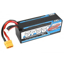 C-49731 Team Corally - X-Celerated 100C LiPo Battery - 6750 mAh - 14.8V - Stick 4S - Hard Wire - XT90