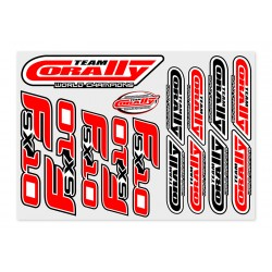 C-99905 Team Corally - Stickersheet FSX-10 - Precut - 210x148mm - 1 pc