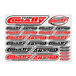 C-99920 Team Corally - Sponsor Stickersheet CORALLY - Precut - 210x148mm - 1 pc