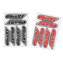 C-99921 Team Corally - Sponsor Stickersheet CORALLY - Precut - 105x75mm - 2 pcs