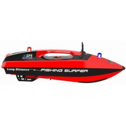 JOY3251 Bateau de pêche - Surfer Bateau d'appât - 2.4G - GPS - avec 6.4V 15.6Ah LiFePo & AC Balance Charger