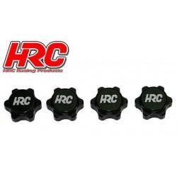 HRC1057PBK Ecroux de roues 1/8 - 17mm x 1.25 - strié flasqué - TSW PRO Noir (4 pces)