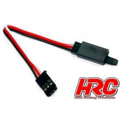 HRC9230CL Prolongateur de servo - avec Clip - Mâle/Femelle - UNI (FUT) type - 10cm Long