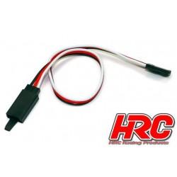 HRC9231CL Prolongateur de servo - avec Clip - Mâle/Femelle - UNI (FUT) type - 20cm Long