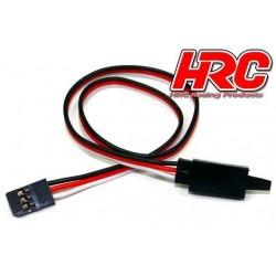 HRC9233CL Prolongateur de servo - avec Clip - Mâle/Femelle - UNI (FUT) type - 40cm Long