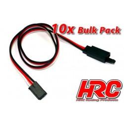 HRC9235CLB Prolongateur de servo - avec Clip - Mâle/Femelle - UNI (FUT) type - 60cm Long - BULK 10 pces