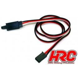 HRC9237CL Prolongateur de servo - avec Clip - Mâle/Femelle - UNI (FUT) type - 100cm Long