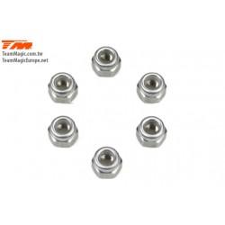 KF5114 Ecrous - M3.5 nylstop - Aluminium (6 pces)