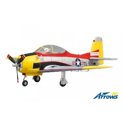 AS-AH006P Arrows RC - T-28 Trojan - 1100mm - PNP - w/ Electric Retracts