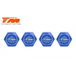 TM111168B Wheel Nuts - 1/8 Buggy - 17mm - TM Serrated Dirt Shield Wheel Nuts - Blue (4 pcs)