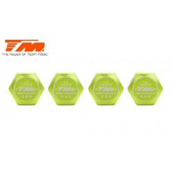 TM111168G Wheel Nuts - 1/8 Buggy - 17mm - TM Serrated Dirt Shield Wheel Nuts - Green (4 pcs)