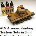 AFV Armour Painting System Sets in 8 ml bottles.Système de peinture blindé AFV en bouteilles de 8 ml.