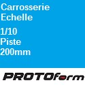 Carrosserie Echelle : 1:10 Piste 200mm ProtoForm