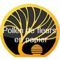 Pollen de fleurs en papier