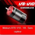 Moteurs 1/10 - 1/8 RTR Moteurs Sensoreless