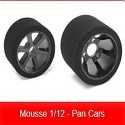 Pneus Mousse 1/12 - Pan Cars TEAM CORALLY