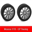 Pneus Mousse 1/10 - GP Touring TEAM CORALLY